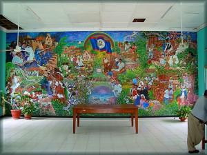 Manuel Villamor mural in Corozal Town